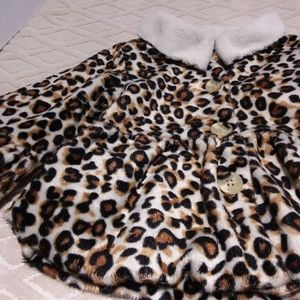 The Little One peplum leopard light coat-
